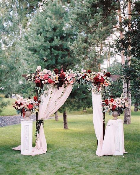 Wedding Ceremony Arch by Fabric Draped Wedding Arch Wedding Ceremony Arch