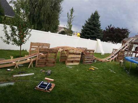 teen boys build 50 foot long backyard roller coaster