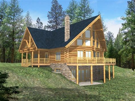 cabin home plans log cabin with wrap around porch log cabin house plans