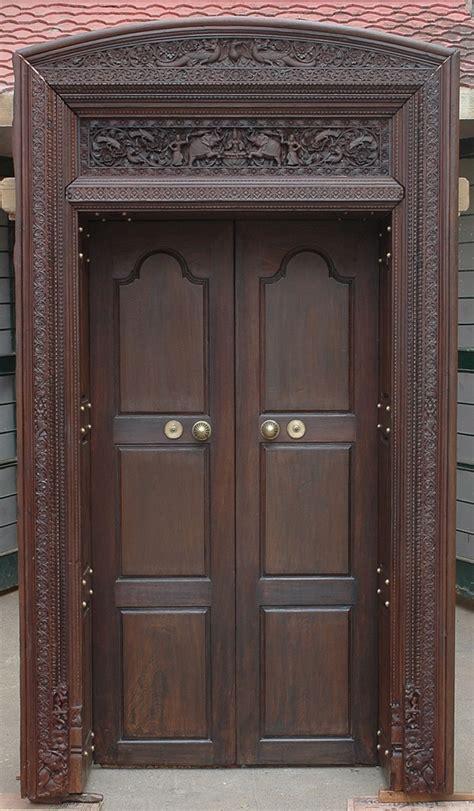 door  style victorian aged bronze leaf  solid