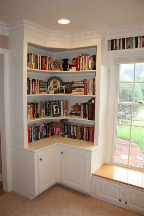 Built In Corner Bookcase 10 Best Ideas About Corner Bookshelves On Pinterest Book Storage Corner Storage And Building