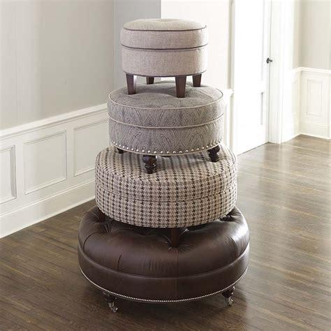 how to make a round ottoman custom round ottoman bassett furniture