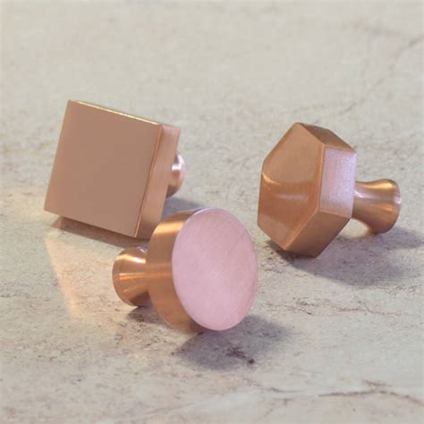 Pushka Door Knobs by Modern Matte Copper Cupboard Door Knobs By Pushka Home