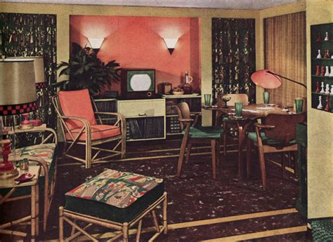 furniture and color scheme for living room vintage home 1950 armstrong living room mid century style decorating
