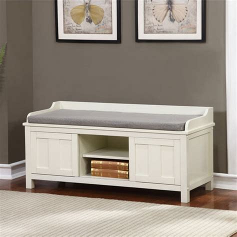 840212wht01u lakeville white storage bench in antique