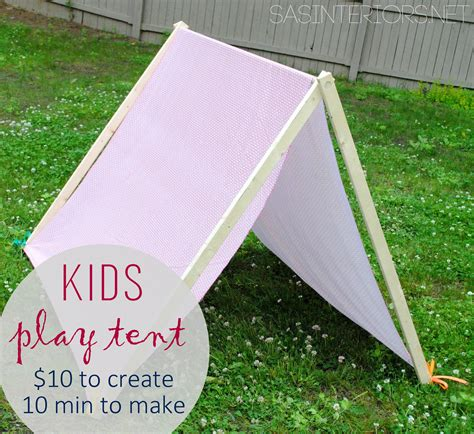 diy play cing tent burger