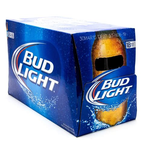 18 Pack Bud Light by Bud Light 12oz Bottle 18 Pack Wine And