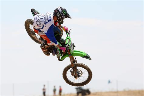 85cc motocross racing brian moreau second in the 85cc world junior chionship