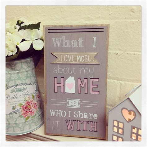 large shabby chic 3d style wooden sign what i love most about my home