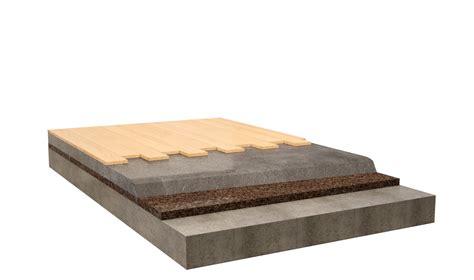 isolamento pavimenti isolamento pavimento flottante in legno con sughero