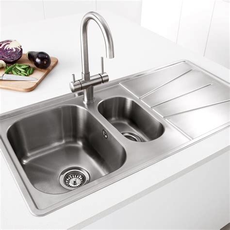 Kitchen Sink Inset Caple Blaze 150 Inset 1 5 Bowl Kitchen Sink Sinks Taps