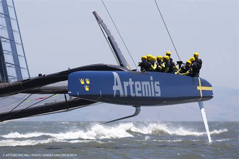artemis racing boat first day of sailing of the quot blue boat quot artemis racing