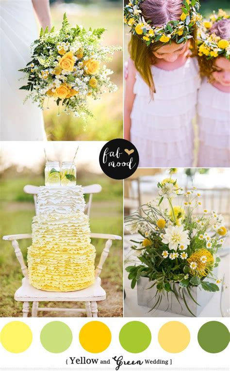 green wedding colors yellow green wedding colors green weddings and wedding