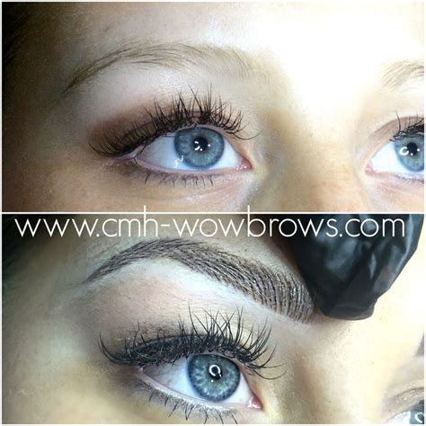beautiful feather touch brow tattoos done by myself kelly microstroke microblading feathering feather touch brows