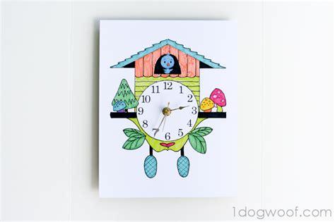 printable cuckoo clock template how to make a coo coo clock motavera com