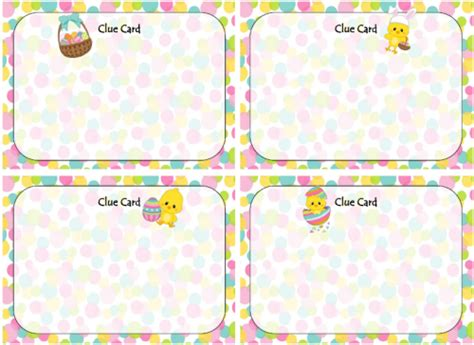 scavenger hunt clue cards template easter activities free printables ideas recipes
