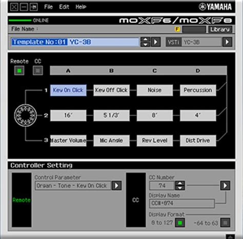 Moxf Software Synthesizers Synthesizers Muziekproductietools Producten Yamaha Instruments Controller Editor Templates
