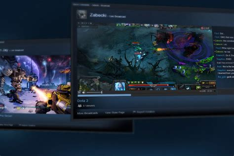 valve brings livestreaming to steam with steam broadcasting polygon