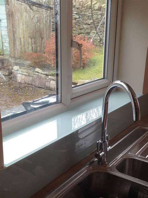lombardy mist glass splashback upstands window sill