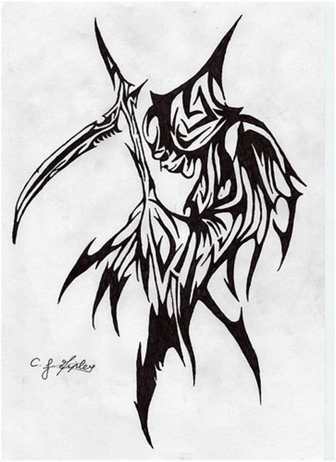 tribal reaper tattoo tribal grim reaper designs www pixshark images