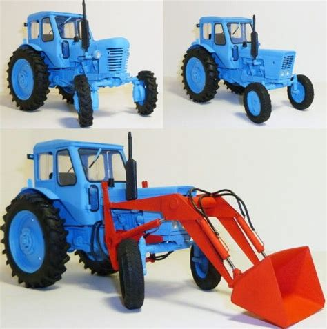 Origami Tractor - mtz 50 52 tractor free vehicle paper model