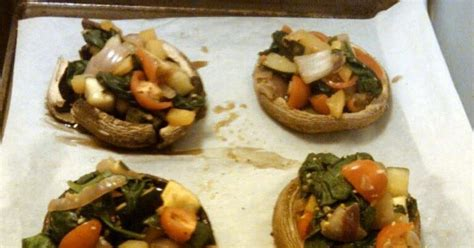Detox Stuffed Mushrooms by In The Kitchen On The Run Tls Detox Week 1 Stuffed