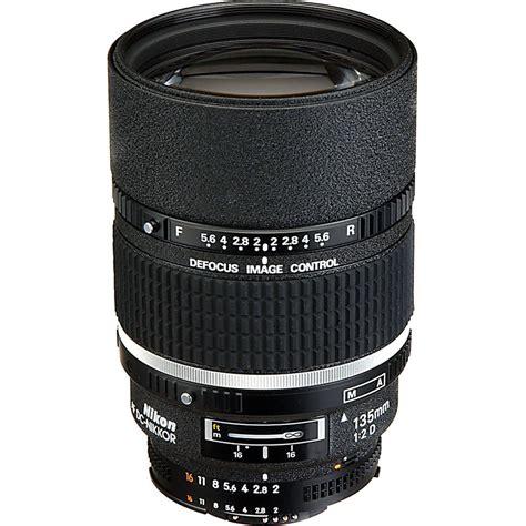 nikon af dc nikkor 135mm f 2d lens 1935 b h photo