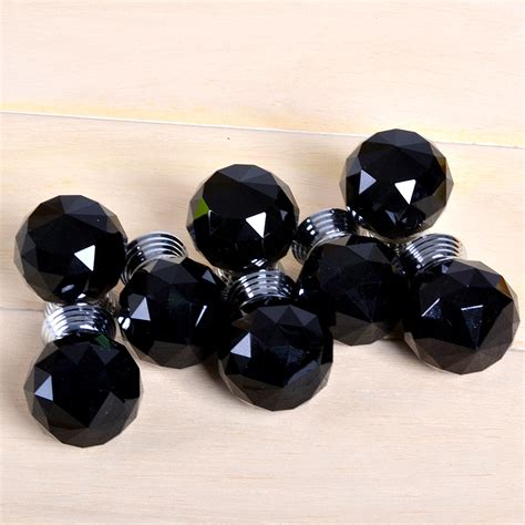 Black Glass Drawer Knobs by Black Glass Door Knobs Drawer Cabinet Furniture