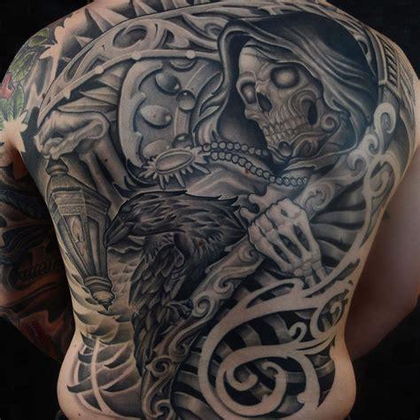 tattoo wichita ks my grim reaper back done by chris ramirez at