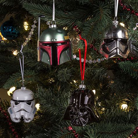 star wars christmas tree decorations at thinkgeek retro
