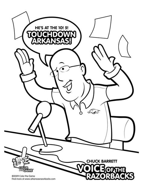 17 Best Images About Arkansas On Pinterest Football College Football Coloring Pages