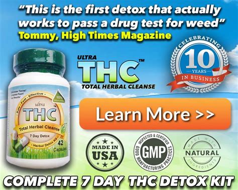 Thc Detox by Detox Pills To Pass A Test For Fast Detox
