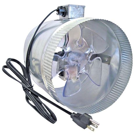 inductor fan home depot suncourt db208 crd corded 8 in in line duct fan pppa2e avi depot much more value for your money