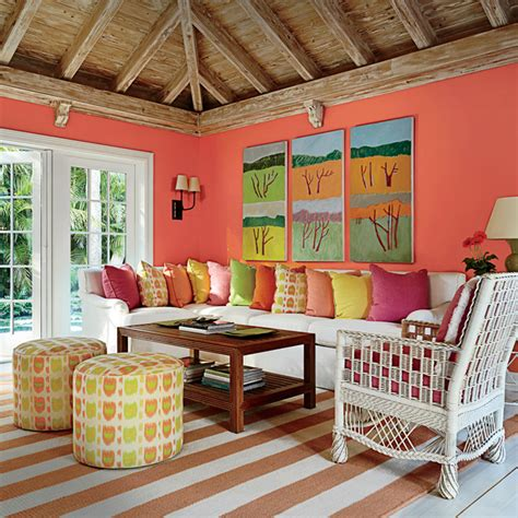tropical colors for home interior tropical hued florida guesthouse coastal living