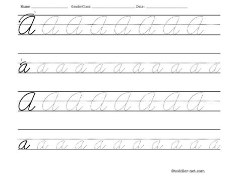 printable tracing letters cursive tracing worksheet cursive letter a