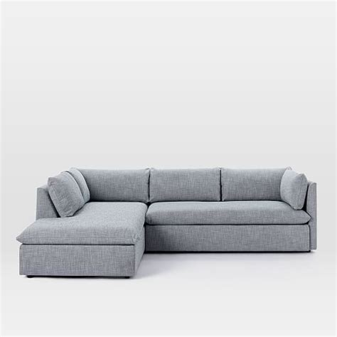 west elm shelter sleeper sofa gray chaise sofa grey sofa chaise thesofa