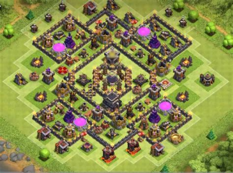 Best coc th9 farming bases with bomb tower 2017 cocbases