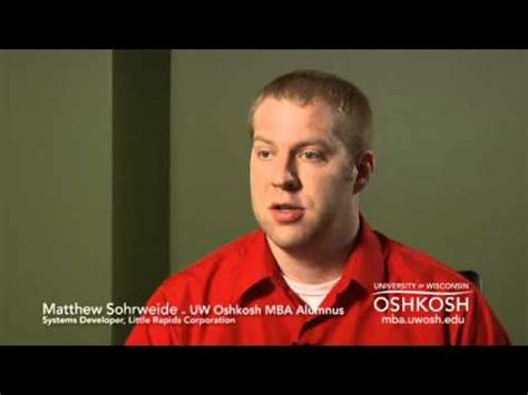 Mba Uw Oshkosh by Uw Oshkosh Executive Mba Tv Commercial With Matthew