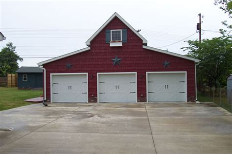 barn style garage 3 car red barn style garage