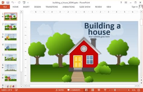 building a house online animated real estate powerpoint templates powerpoint