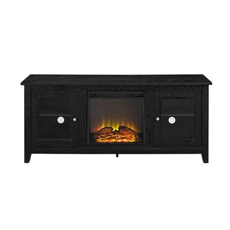 walker edison 60 inch tv stand with electric fireplace