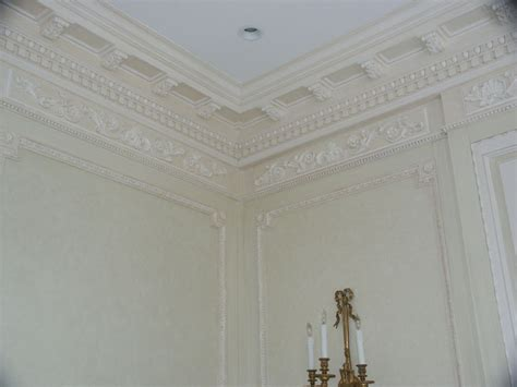 Installing Crown Moulding On Ceiling by Finish Carpentry Crown Molding Installation And Painting