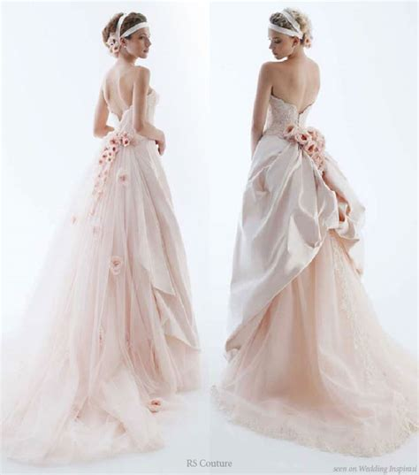 Light Pink Wedding Dresses by Wedding In Color By Rs Couture Wedding Inspirasi