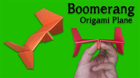Origami Boomerang Easy - best paper plane how to make a paper airplane easy