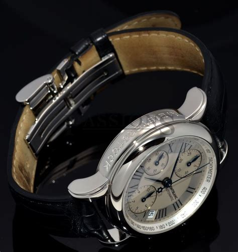 Mont Blanc Mb38 Hitam mont blanc 38mm quot 4810 chronograph quot automatic date ref 7016 in steel passions
