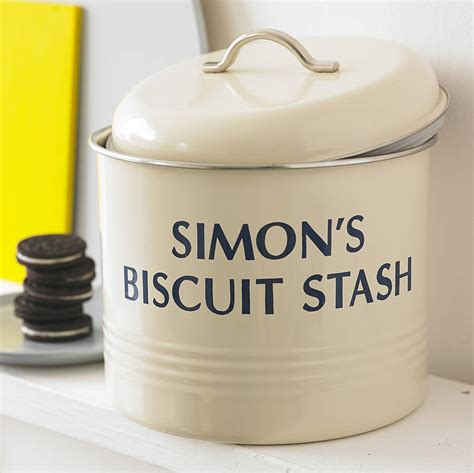 personalised biscuit barrel by jonny s sister