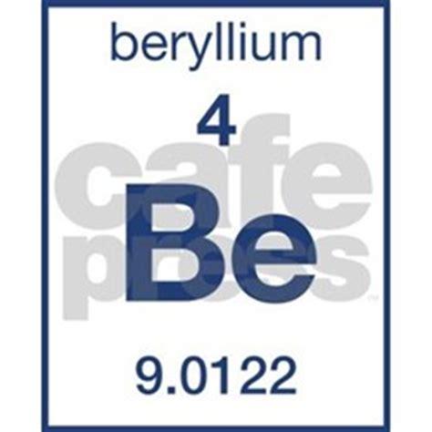 periodic table beryllium stickers periodic table