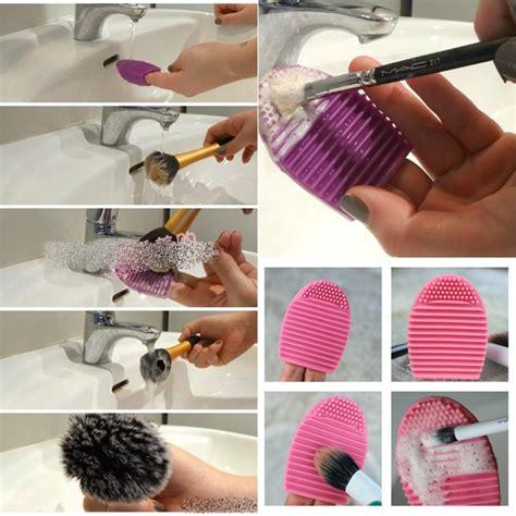 Brushegg Brush Egg Pembersih Kuas Termurah jual spon pembersih kuas make up brush egg gizelshop