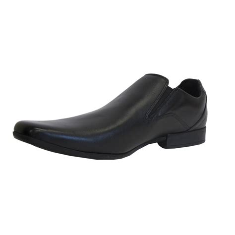 clarks mens shoe glement slip black leather