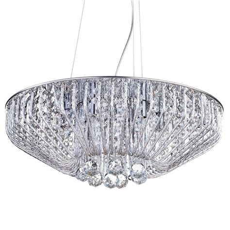6 light effect ceiling pendant chrome